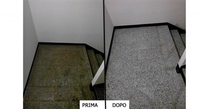 trattamento pavimenti prima e dopo